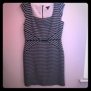 Navy and white Ann Taylor dress. Never worn